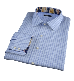 Minetta Blue Wrinkle-Resistant Multi Check Fitted Dress Shirt