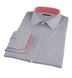 Black Carmine Stripe Custom Dress Shirt
