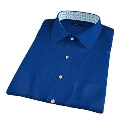 Blue and Light Blue Pindot Short Sleeve Shirt