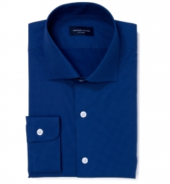 Blue and Light Blue Pindot Custom Dress Shirt