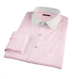 Pink 80s Broadcloth Custom Dress Shirt