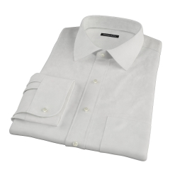 Ecru 100s Twill Fitted Shirt