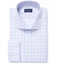 Alassio Pink End on End Check Dress Shirt