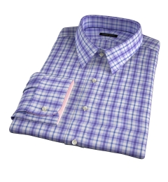 Siena Lavender Multi Check Men's Dress Shirt