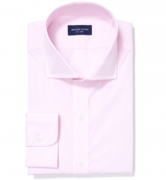 Carmine Light Pink Mini Grid Custom Dress Shirt
