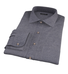 Canclini Charcoal Herringbone Flannel Tailor Made Shirt