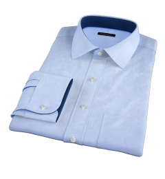 Japanese Washed Denim Fitted Dress Shirt