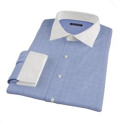 Carmine Blue Glen Plaid Tailor Made Shirt