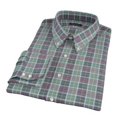 Green Dock Street Flannel Fitted Dress Shirt