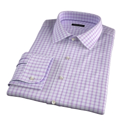 Essex Lavender Multi Check Fitted Dress Shirt