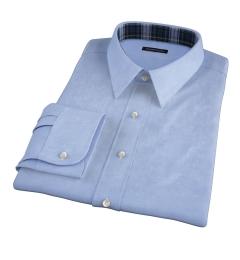 120s Light Blue Royal Herringbone Men's Dress Shirt
