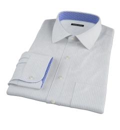 Canclini Light Blue Medium Stripe Custom Dress Shirt
