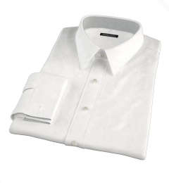 White Jacquard Weave Custom Made Shirt