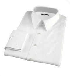 White Jacquard Weave Custom Made Shirt