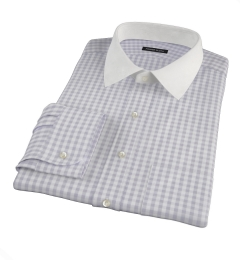 Canclini Grey 120s Gingham Fitted Shirt