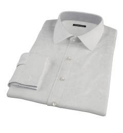 100s Pale Grey Stripe Men's Dress Shirt