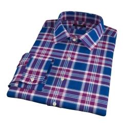 Warren Large Blue Plaid Custom Made Shirt