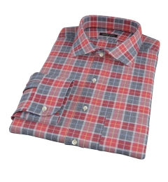 Rust Dock Street Flannel Dress Shirt