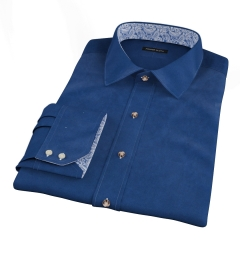 Navy 100s Twill Dress Shirt
