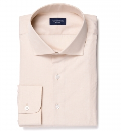 Genova 100s Beige End-on-End Custom Made Shirt