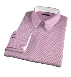 Carmine Crimson Small Grid Custom Made Shirt
