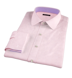 Pink 80s Broadcloth Men's Dress Shirt