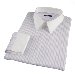Canclini 120s Lavender Multi Stripe Custom Dress Shirt