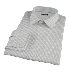 Japanese Light Blue Multi Stripe Men's Dress Shirt