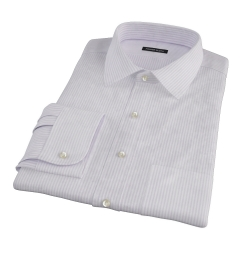 Purple Thin Stripe Heavy Oxford Tailor Made Shirt