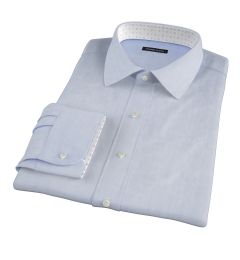 Albini Light Blue Chambray Fitted Dress Shirt
