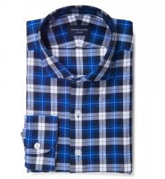 Cascade Cobalt Plaid Flannel Tailor Made Shirt