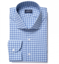 Jones Blue and Green Multi Check Tailor Made Shirt