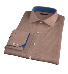 Canclini Camel Mini Herringbone Flannel Custom Dress Shirt