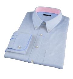 Morris Light Blue Wrinkle-Resistant Glen Plaid Fitted Shirt
