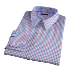 Thomas Mason Hibiscus Multi Check Custom Made Shirt