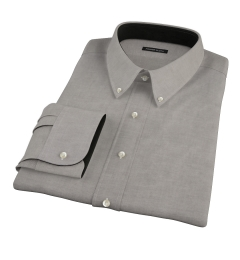 Black Heavy Oxford Cloth Men's Dress Shirt