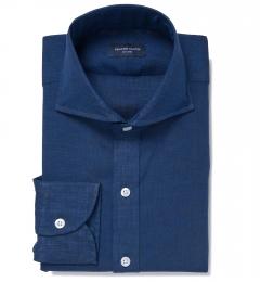 Redondo Dark Blue Linen Tailor Made Shirt