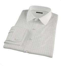 Light Blue Satin Stripe Fitted Shirt