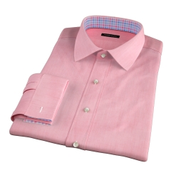 Genova 100s Coral End-on-End Custom Made Shirt