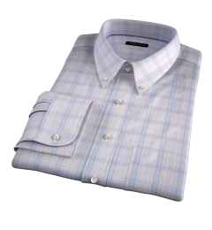 Canclini 120s Beige Prince of Wales Check Dress Shirt