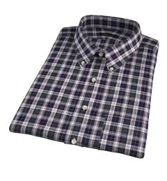 Japanese Green Donegal Tartan Short Sleeve Shirt
