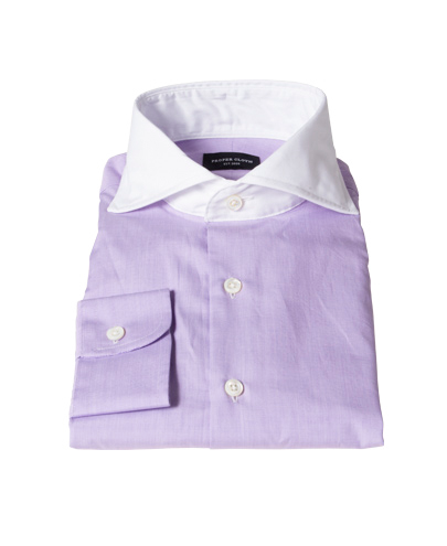 Canclini Lavender End on End Dress Shirt