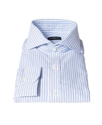 Thomas Mason Light Blue Stripe Oxford Custom Made Shirt