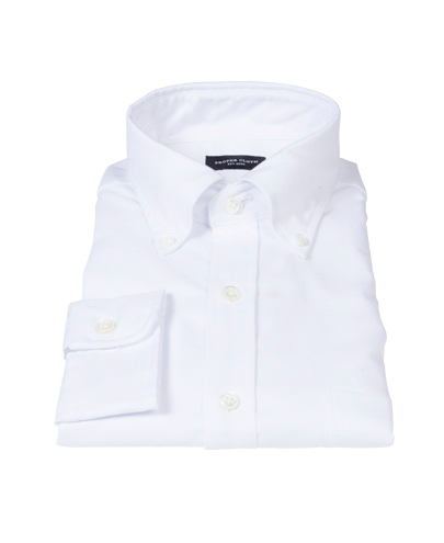 Thomas Mason White Oxford Men's Dress Shirt