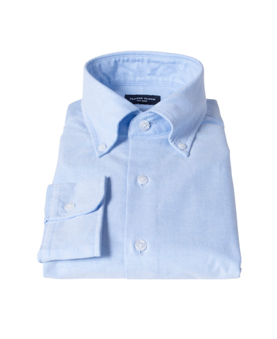 Light blue heavy oxford cloth dress shirt by proper cloth for Proper cloth custom shirt price