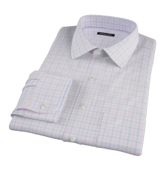Thomas Mason Pink Multi Check Custom Dress Shirt