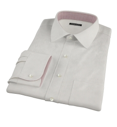 100s Khaki Stripe Fitted Shirt