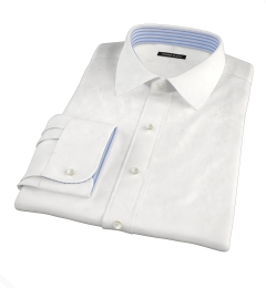 Thomas Mason Goldline White Fine Twill Men's Dress Shirt