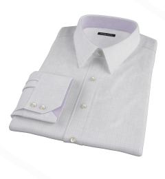 Blue Lavender Morton Grid Tailor Made Shirt