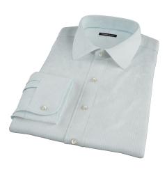 Chalk Blue End-on-End Stripe Custom Made Shirt